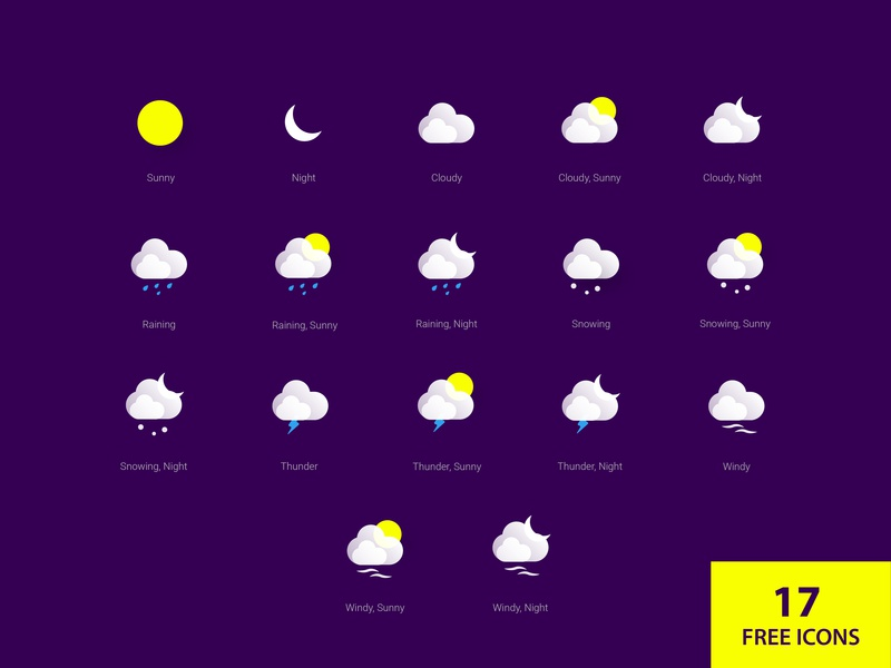 17 Free Weather Icons icons design weather icons icons icon