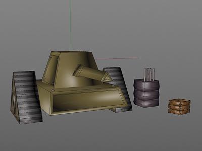 Lowpoly Tank c4d cinema4d 3d gaming videogames lowpoly tank