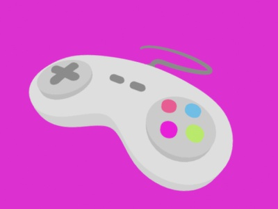 Cel Shaded Controller vintage retro cel animation buttons nintendo controllers vg gaming videogame controller illustration mexico cinema 4d c4d 3d cel shader celshade