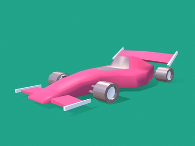 Low Poly Racing Car gaming vehicle racing wheel formula1 race car racing car dammne dessignare design illustration mexico cinema 4d c4d 3d