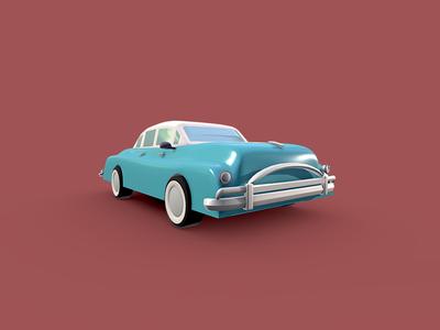 Classic Vintage Car - Low Poly 3D Model