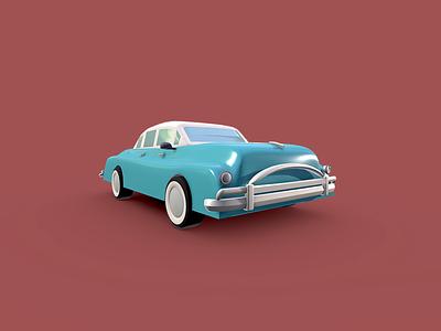 Classic Vintage Car - Low Poly 3D Model dessignare dammne auto design cinema 4d c4d classic car 3d model lowpoly car vintage classic
