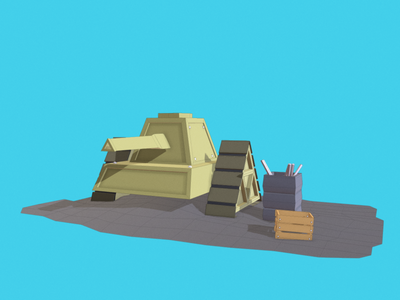 Video Game War Tank - Low Poly dessignare dammne cinema 4d c4d model 3d lowpoly vehicle tank war gaming videogame