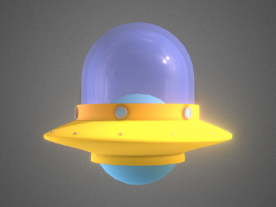 Low Poly UFO yellow dammne illustration design cinema 4d c4d 3d ufos space ship ship alien ufo
