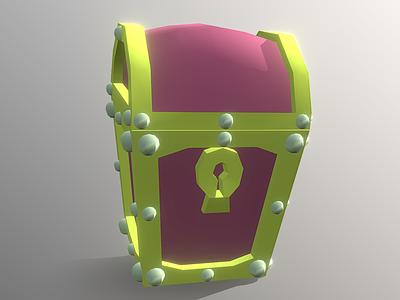 Teasure Chest - Low Poly 3D Model model lowpoly gaming design illustration cinema 4d c4d 3d treasure chest pirate chest treasure