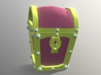 Teasure Chest - Low Poly 3D Model
