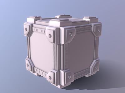 Intergalactic Sci-Fi Cube sci-fi scifiui intergalactic cube dessignare design gaming dammne cinema 4d c4d 3d