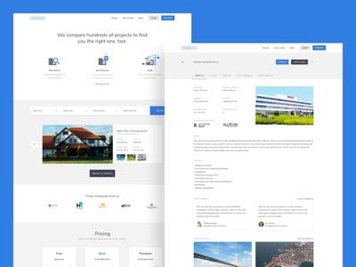 Construction Marketplace Landing Page