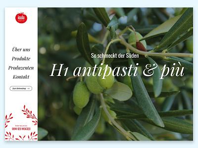 Isula Webdesign ux ui food design off-canvas menu