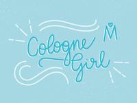 Cologne Girl Monoline Lettering