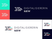 Logo Variations Digitalisiererin.nrw
