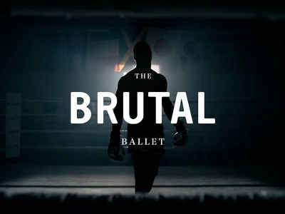 The Brutal Ballet vintage sans serif serif text typography champion thailand kickboxing boxing muay thai documentary film