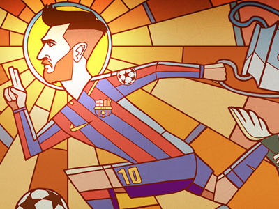 Messi messi soccer football illustration