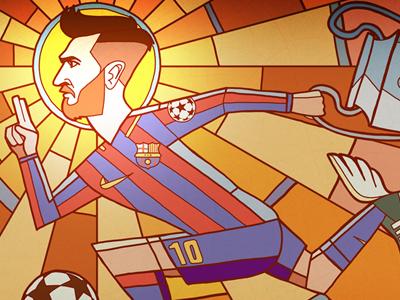 Messi messi soccer football illustration