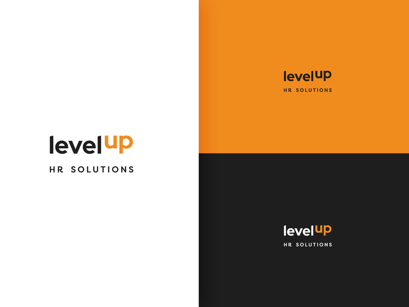 Levelup logo branding logo