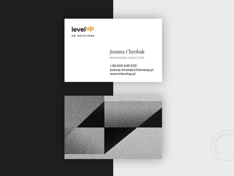 Levelup business card design businesscard