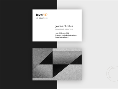 Levelup business card design businesscard