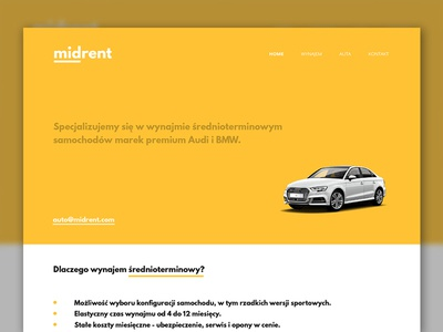 Midrent landing page rwd webdesign