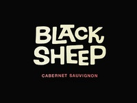 Black Sheep Wine Hand-lettered Type
