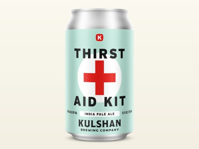 Thirst Aid Kit IPA covid ipa vintage badge logo design bellingham brew packaging can beverage brewing brewery beer branding design logo