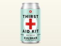 Thirst Aid Kit IPA covid ipa vintage badge logo design bellingham brew packaging can beverage brewing brewery beer branding design logo