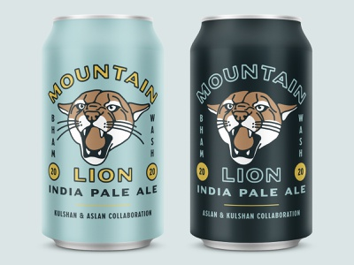Mountain Lion IPA 2020 vintage illustration branding brand brewing beer can can brewery packaging beverage logo beer beer branding