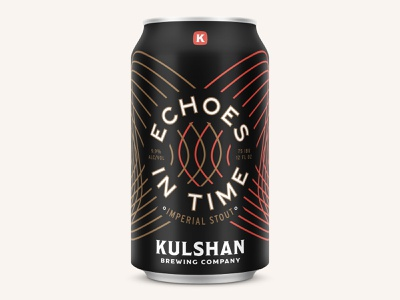 Echoes In Time Imperial Stout beer branding beer can brewing brand beverage can badge packaging bellingham vintage brewery branding beer