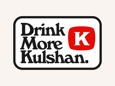 Drink More Kulshan. design vector brewery brewing beverage bellingham packaging typography vintage badge beer branding beer