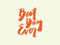 Best Day Ever Logotype