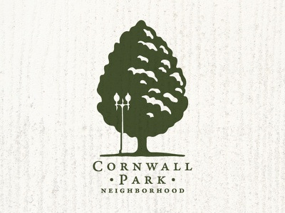 Cornwall Park Neighborhood Logo lamppost bellingham neighborhood tree park logo