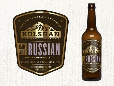 Kulshan Bottle Labels packaging product alcohol badge logo emblem kulshan brewery foil label bottle beer