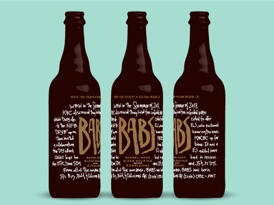 Babs Bottle hand-made lettering mockup barrel-aged bottle brewing brewery beer