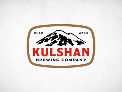 Kulshan Brewing Company Badge bar brewing brewery beer mountain brand badge logo