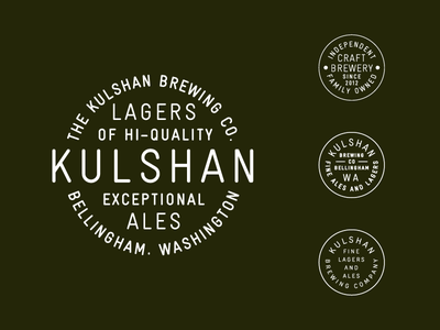 Kulshan Marks circle brewery beer mark badge brand logo