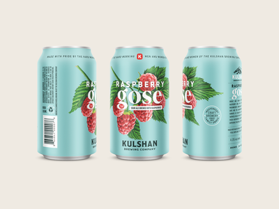 Kulshan Raspberry Gose bellingham beverage brewing illustration vintage packaging can sour gose beer brewery