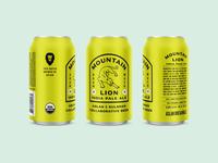 Mountain Lion IPA - Aslan Version beverage ipa retro vintage kulshan aslan illustration badge brewing can branding bellingham packaging beer logo
