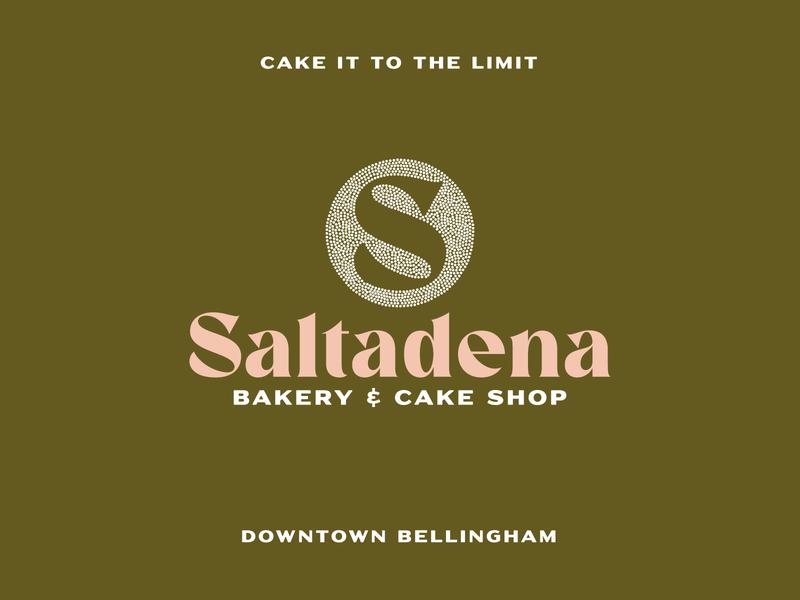 Saltadena Bakery & Cake Shop vintage sugar sweets baker cake shop baking logo design icon logos cupcakes restaurant logotype brand circle dessert bellingham bakery cake branding logo