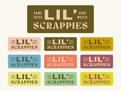 Lil' Scrappies by Saltadena Bakery vintage brand branding package food label sticker design logo baking bake bakery cake shop cake packaging bellingham