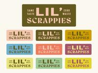Lil' Scrappies by Saltadena Bakery vintage brand branding package food label sticker design logo baking bake bakery cake shop cake packaging bellingham