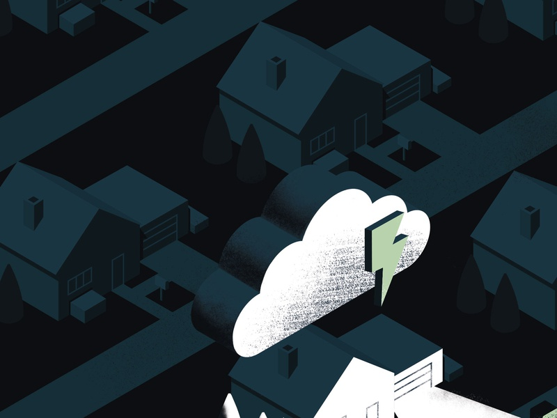 Moody Blues vector illustration vector suburbia gig poster gloomy lightning storm tgts wip
