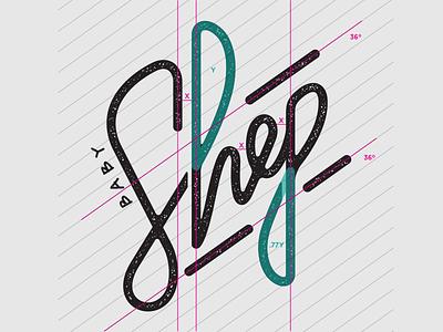 Shep Grid Dribbble hand lettering script word mark wordmark typography logo