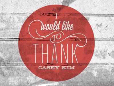 Thanks Shot thanks typography thank you card design