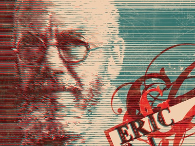 Eric Gill Shot design typography poster half-tone
