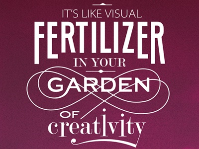 Visual Fertilizer  poster typography design