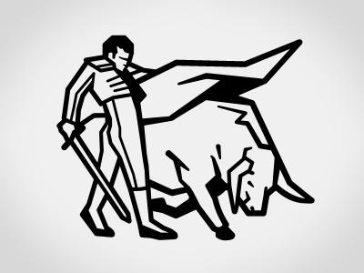 Matador logo mark logo illustration