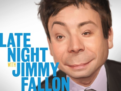 Jimmy Fallon Caricature illustration caricature celebrity photoshop painting