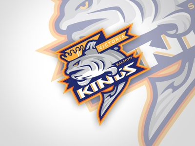 Victoria Salmon Kings logo logo sports hockey
