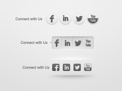 Social icons social icons footer buttons facebook twitter