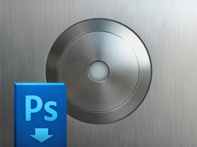Elevator Button (free PSD)