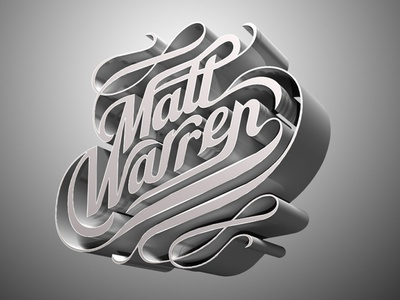 Typo-tistic typography 3d logo fancy identity word mark three dimensional shiney floral swoowsh